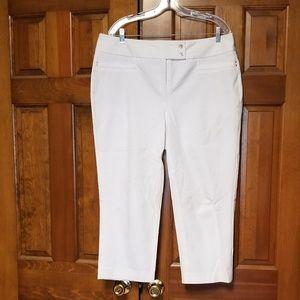 Alfani Cropped White Pants Size 14W